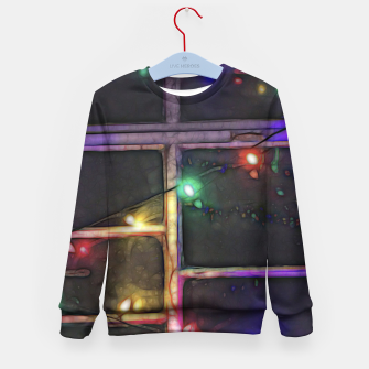 Thumbnail image of Christmas Lights Refraction Kid's sweater, Live Heroes