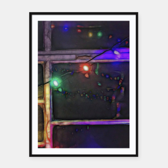 Thumbnail image of Christmas Lights Refraction Framed poster, Live Heroes