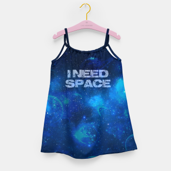 Thumbnail image of I need space Mädchenkleid, Live Heroes