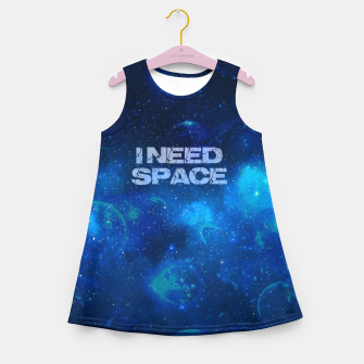 Thumbnail image of I need space Mädchen-Sommerkleid, Live Heroes