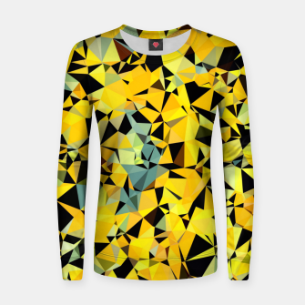 Thumbnail image of geometric triangle pattern abstract in yellow green black Women sweater, Live Heroes