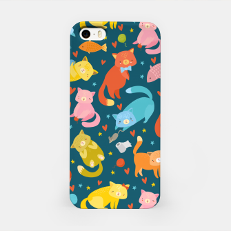 Miniatur Kitty's pattern iPhone Case, Live Heroes