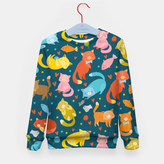 Thumbnail image of Kitty's pattern Kid's sweater, Live Heroes