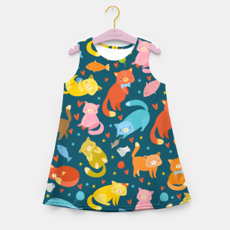 Thumbnail image of Kitty's pattern Girl's summer dress, Live Heroes