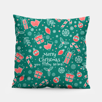 Thumbnail image of Merry Christmas you filthy Pillow, Live Heroes