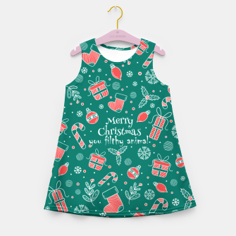 Thumbnail image of Merry Christmas you filthy Girl's summer dress, Live Heroes