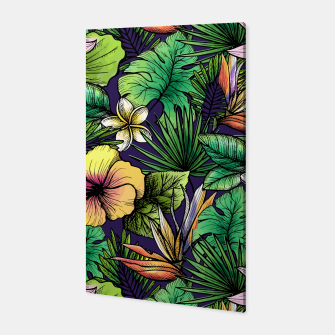 Thumbnail image of Drawn tropical flowers Canvas, Live Heroes