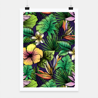 Thumbnail image of Drawn tropical flowers Poster, Live Heroes