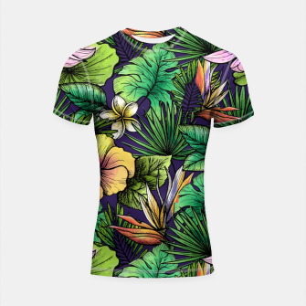Thumbnail image of Drawn tropical flowers Shortsleeve rashguard, Live Heroes