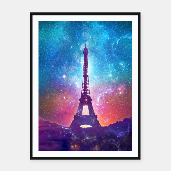 Miniaturka Eiffel Tower - Milky Way Collage Framed poster, Live Heroes