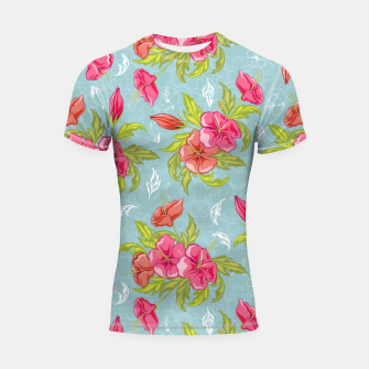 Thumbnail image of Colorful Floral Shortsleeve rashguard, Live Heroes