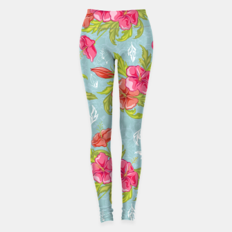 Thumbnail image of Colorful Floral Leggings, Live Heroes