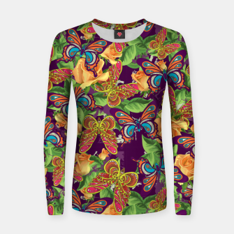 Miniatur Unique colorful butterflies Women sweater, Live Heroes