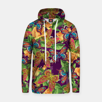 Miniatur Unique colorful butterflies Hoodie, Live Heroes