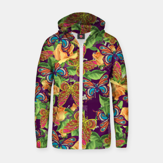Thumbnail image of Unique colorful butterflies Zip up hoodie, Live Heroes