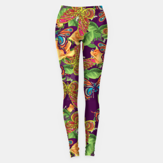 Miniatur Unique colorful butterflies Leggings, Live Heroes
