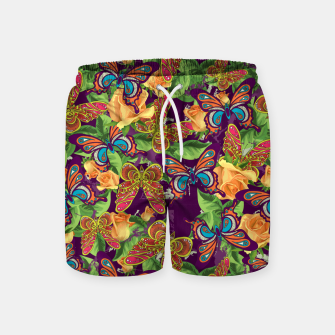 Thumbnail image of Unique colorful butterflies Swim Shorts, Live Heroes