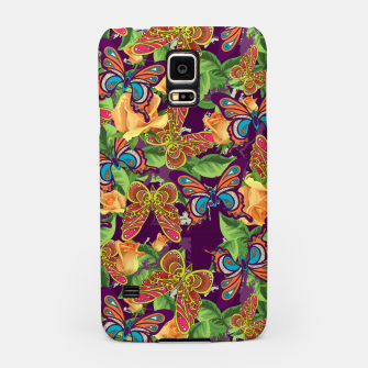 Miniatur Unique colorful butterflies Samsung Case, Live Heroes