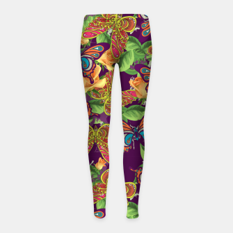 Miniatur Unique colorful butterflies Girl's leggings, Live Heroes