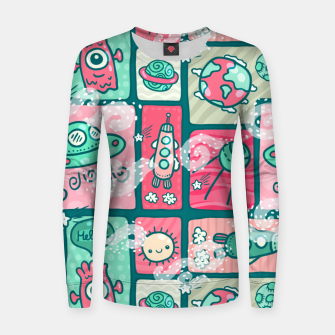 Thumbnail image of Hello Alien Women sweater, Live Heroes