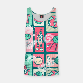 Thumbnail image of Hello Alien Tank Top, Live Heroes