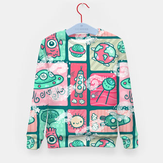 Thumbnail image of Hello Alien Kid's sweater, Live Heroes