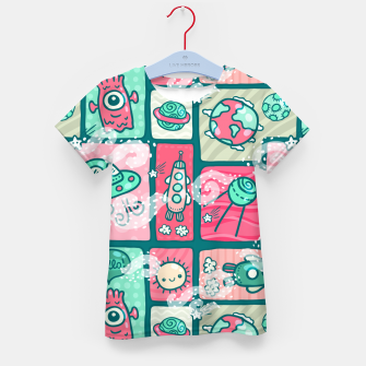 Thumbnail image of Hello Alien Kid's t-shirt, Live Heroes