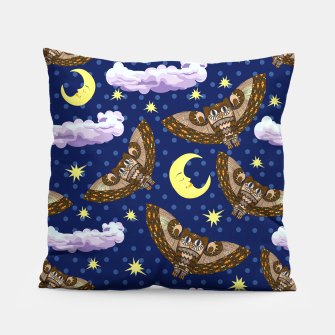 Thumbnail image of Owls and Stars Pillow, Live Heroes