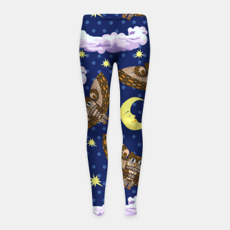 Thumbnail image of Owls and Stars Girl's leggings, Live Heroes