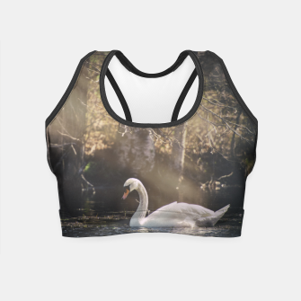 Thumbnail image of swan #1 Crop Top, Live Heroes