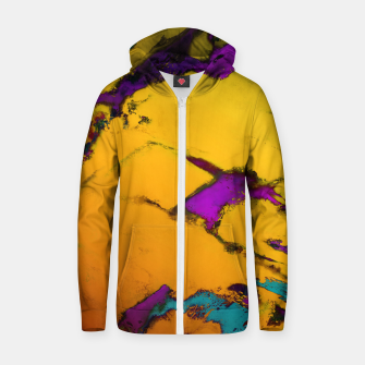 Thumbnail image of Yellow erosion Zip up hoodie, Live Heroes