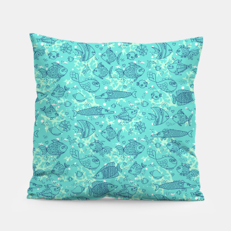 Thumbnail image of Blue Fishes Pillow, Live Heroes