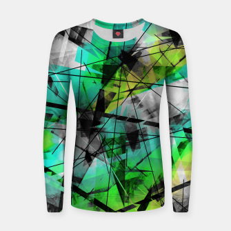 Breaking Boundaries - Futuristic Geometric Abstrct Art Women sweater thumbnail image