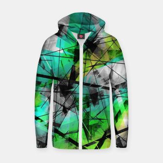 Breaking Boundaries - Futuristic Geometric Abstrct Art Zip up hoodie thumbnail image