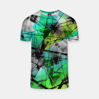 Breaking Boundaries - Futuristic Geometric Abstrct Art T-shirt thumbnail image