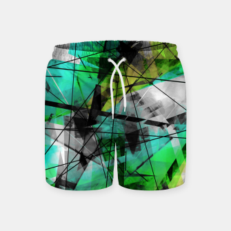 Breaking Boundaries - Futuristic Geometric Abstrct Art Swim Shorts thumbnail image