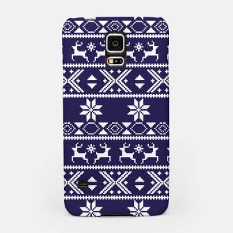 Thumbnail image of Fair Isle Knit Pattern Blue Samsung Case, Live Heroes