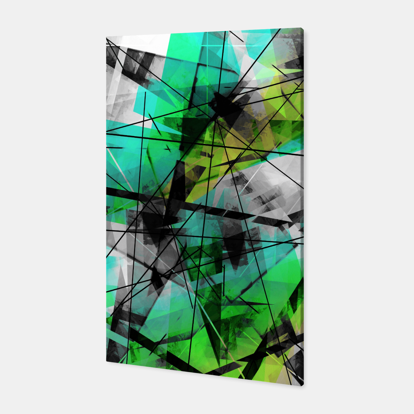 Image of Breaking Boundaries - Futuristic Geometric Abstrct Art Canvas - Live Heroes