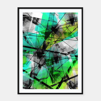 Breaking Boundaries - Futuristic Geometric Abstrct Art Framed poster thumbnail image