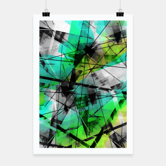 Breaking Boundaries - Futuristic Geometric Abstrct Art Poster thumbnail image