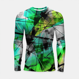 Breaking Boundaries - Futuristic Geometric Abstrct Art Longsleeve rashguard  thumbnail image