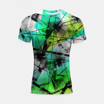 Thumbnail image of Breaking Boundaries - Futuristic Geometric Abstrct Art Shortsleeve rashguard, Live Heroes