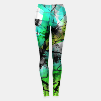 Breaking Boundaries - Futuristic Geometric Abstrct Art Leggings thumbnail image