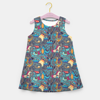 Thumbnail image of Fantastic Creatures Girl's summer dress, Live Heroes