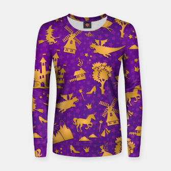 Thumbnail image of Violet Fairytale Women sweater, Live Heroes