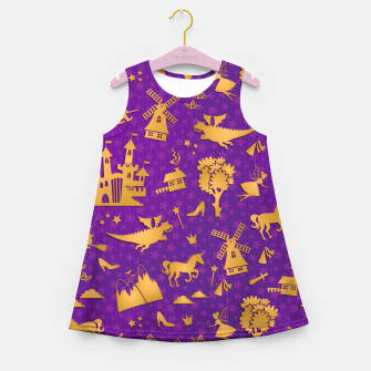 Thumbnail image of Violet Fairytale Girl's summer dress, Live Heroes