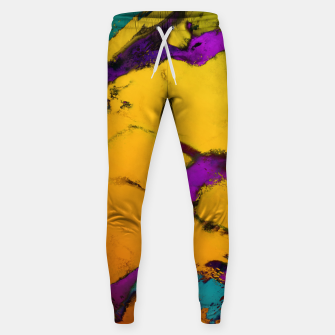 Thumbnail image of Yellow erosion Sweatpants, Live Heroes
