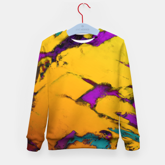 Thumbnail image of Yellow erosion Kid's sweater, Live Heroes