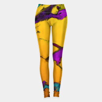 Thumbnail image of Yellow erosion Leggings, Live Heroes
