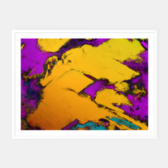 Thumbnail image of Yellow erosion Framed poster, Live Heroes